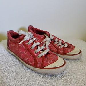 Coach red sneakers
